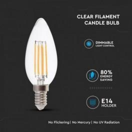 Lâmpada LED V-TAC E14 Chama...