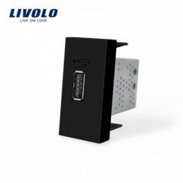 Módulo USB Livolo Preto...